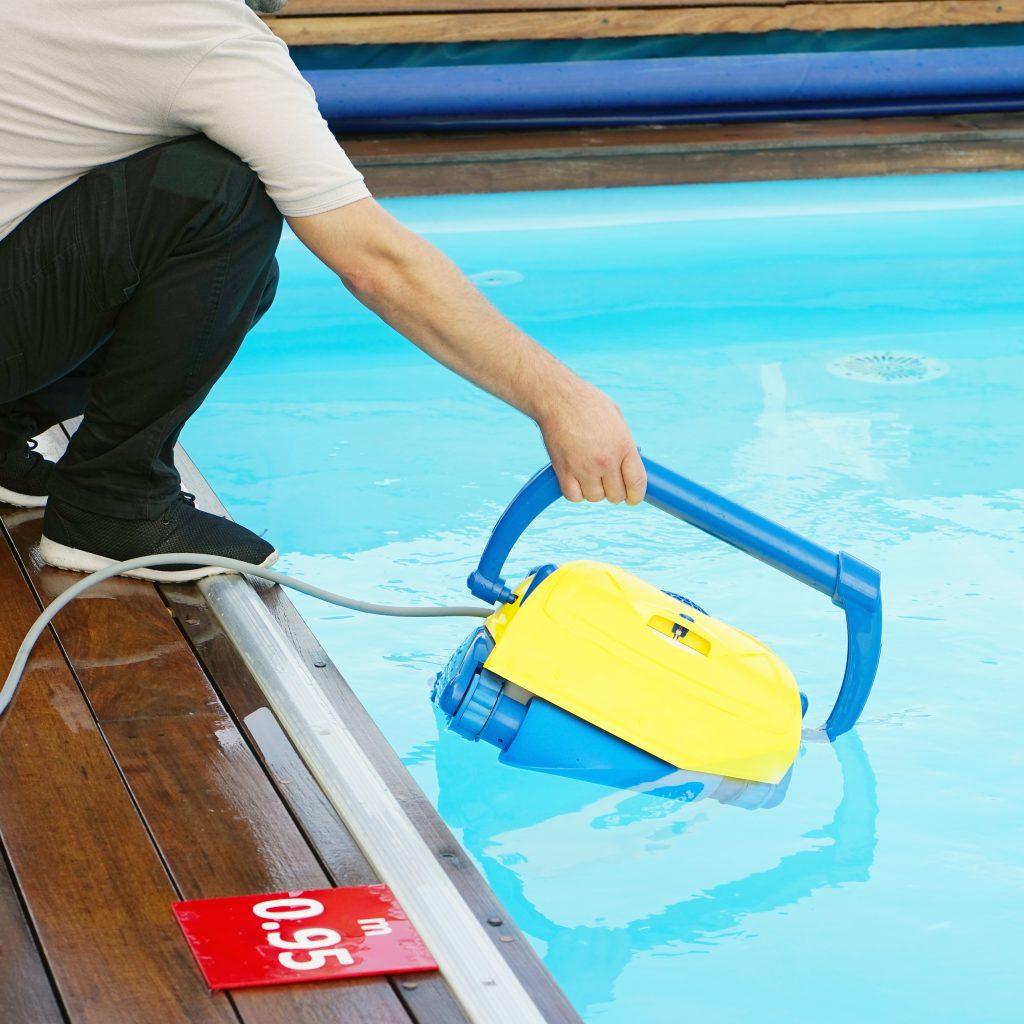 Limpieza en la piscina
