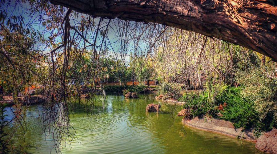 La fuente del parque del Calvario en Estepona.